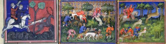 Illustrations tirés de l'ouvrage « Le Livre de la Chasse » de Phoebus